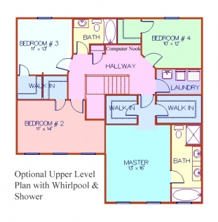 The Irvington - Opt Second Floor Plan w/WP & Shower