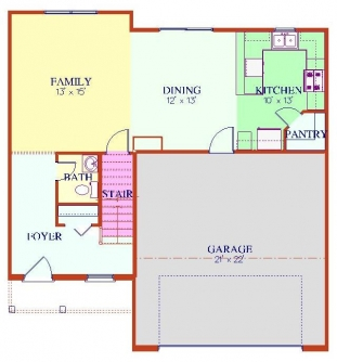 The Sierra - Main Floor Plan