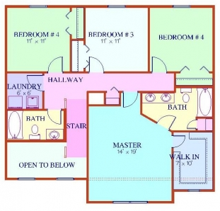 The Sierra - Second Floor Plan